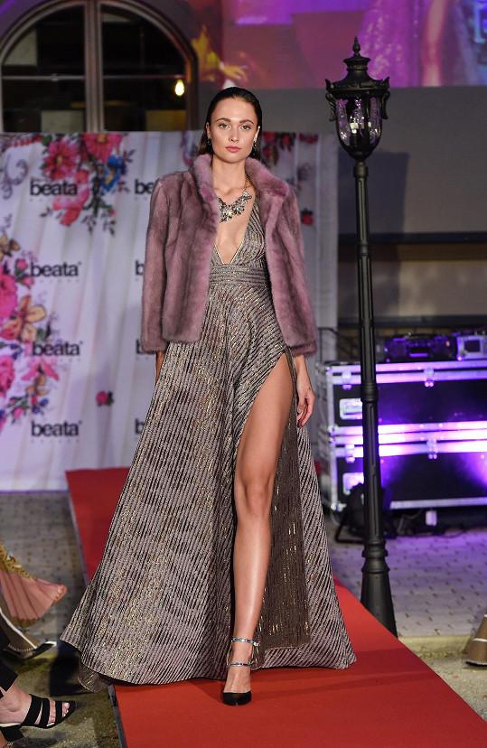 Lea na módní show Beaty Rajské