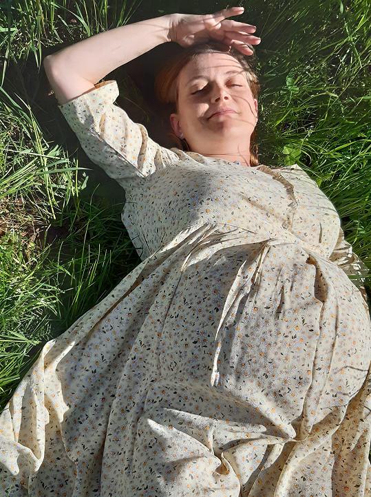 Jeden z posledních snímků před porodem.