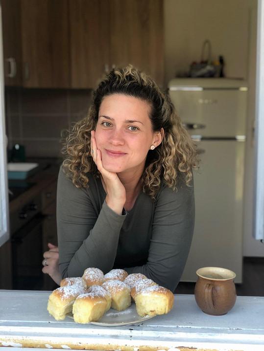 Kateřina v kuchyni