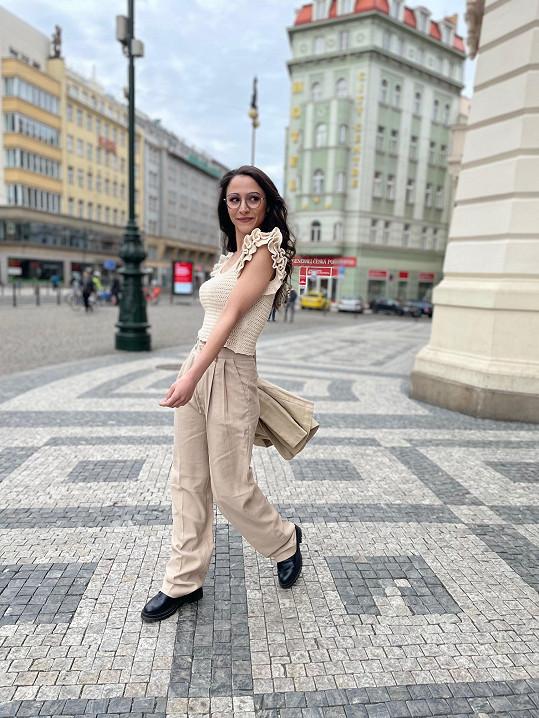 Eva Burešová v roli modelky