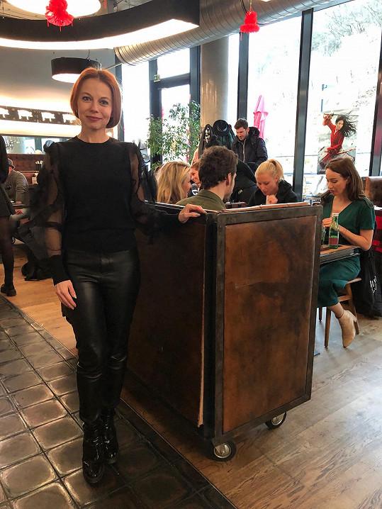 Vyrazila na degustaci do pražské restaurace.