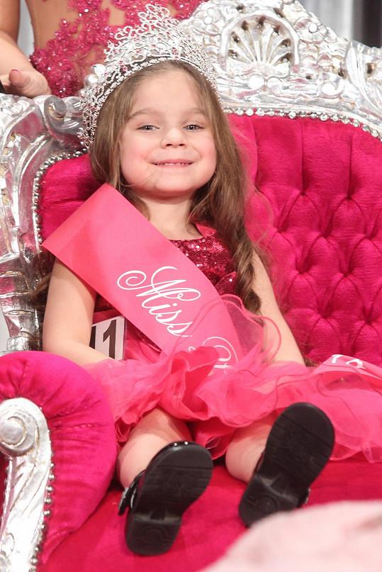 Vyhrála kategorii Miss Princess mini.