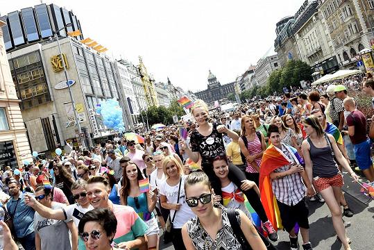 Účastníci pochodu zaplnili celý Václavák.
