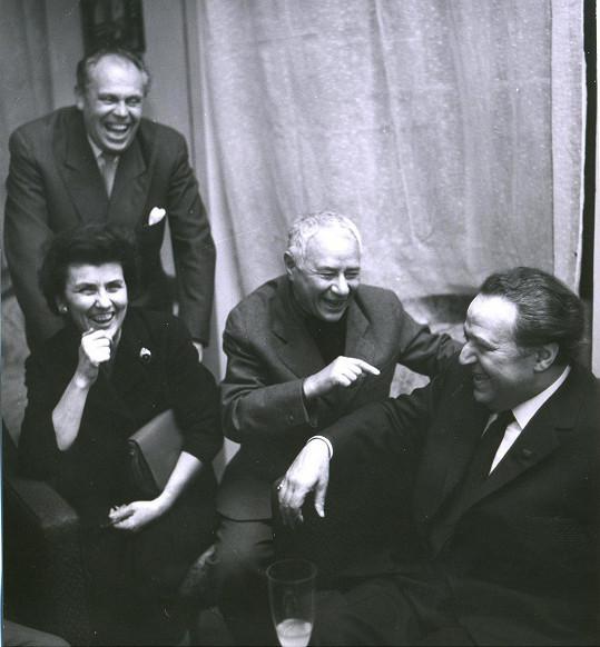 Haas se do vlasti podíval už jen jednou v roce 1963 a setkal se se svými dávnými hereckými kolegy.