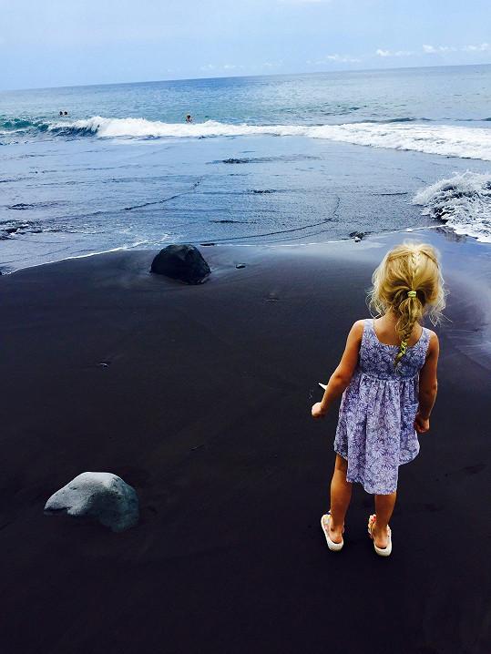Takhle vyfotila svoji dceru.