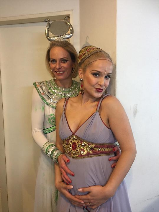 S kolegyní z Kleopatry Kristinou Kloubkovou