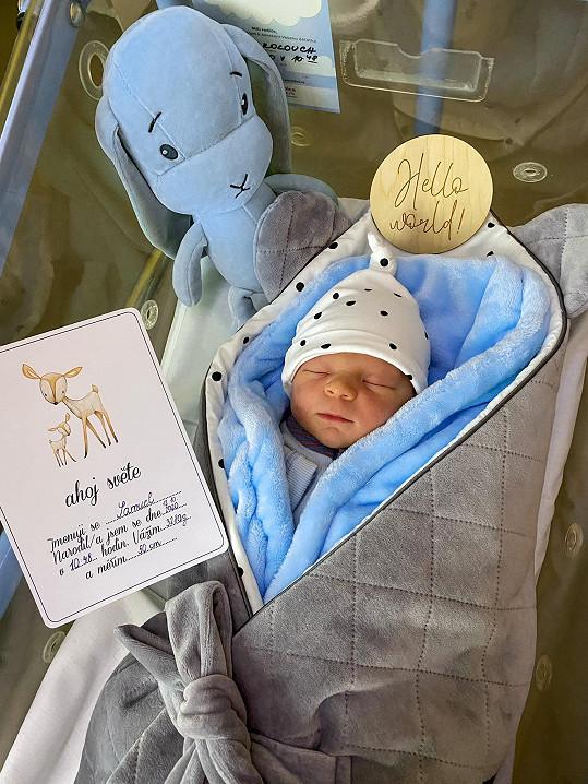 Monika se pochlubila novorozeným synem Samuelem.