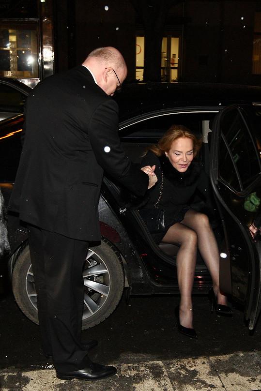 Dagmar Havlová dorazila na premiéru filmu Lída Baarová.
