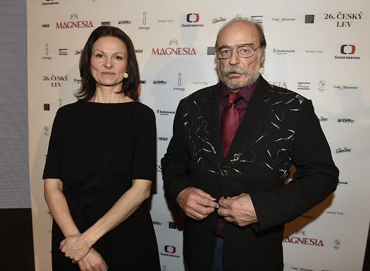 Klára Melíšková a Pavel Nový na vyhlášení nominací na Českého lva.