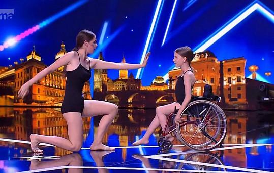 Dívky svým vystoupením dojaly publikum i porotu.