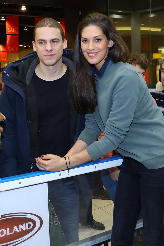 Aneta Vignerová s přítelem Filipem