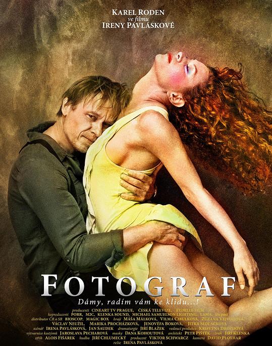 Focení tohoto filmového plakátu s herečkou Mášou Málkovou si Roden velmi užíval.