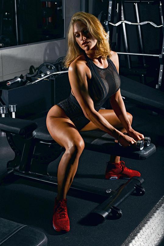 Aneta Novotná má blízko ke sportu.