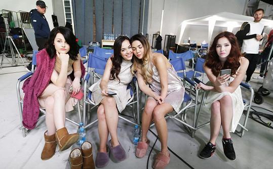 Natáčení bylo náročné, děvčata to ale zvládla.