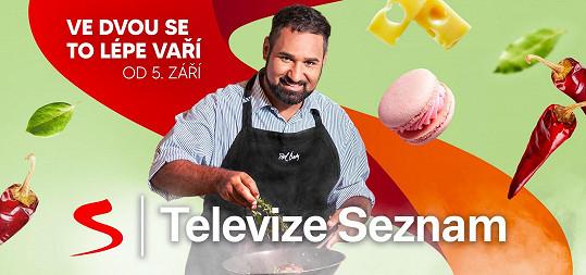 Nyní se představí divákům Televize Seznam v pořadu Ve dvou se to lépe vaří. Přivítá v něm například Jana Čenského, Evu Burešovou, Sašu Rašilova nebo Báru Mottlovou.