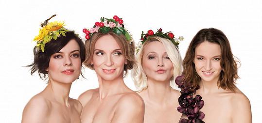 4 sestry Jana Stryková, Ivana Chýlková, Anna Šišková a Berenika Kohoutová