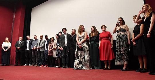 S celou filmovou delegací snímku Sněží! v kině Atlas