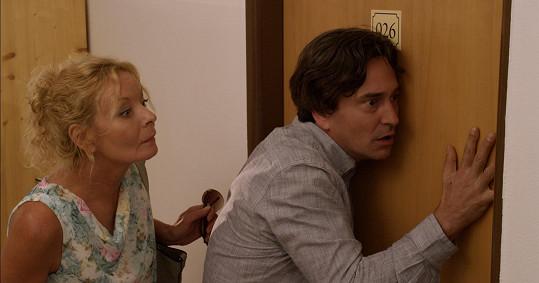 Herečka v roli tety Marty