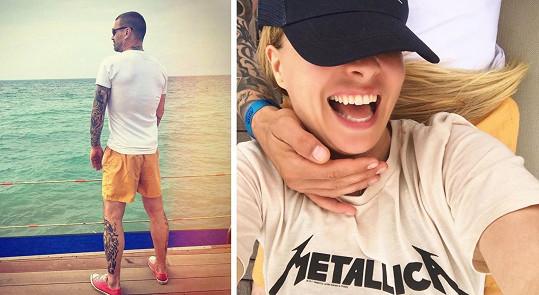 Tomáš Řepka a Kateřina Kristelová jsou na první společné dovolené.