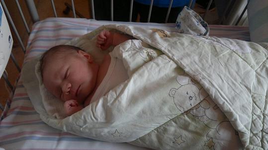 Sára těsně po narození