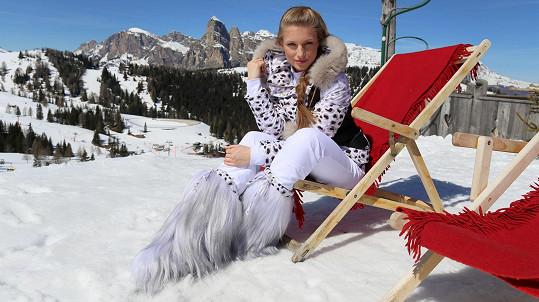 Karolína Mališová v Jižním Tyrolsku