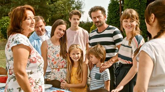 Celá rodinka i s filmovými dětmi