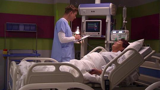 Zawadská si zahrála pacientku na urgentním příjmu.
