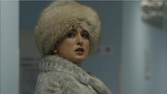 Miluška Bittnerová si v seriálu Temný kraj zahrála ruskou vdovu.