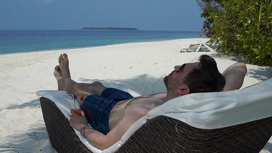 Ondřej Sokol si pobyt na Maledivách vychutnal.