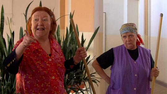 Jaroslava Hanušová a Obermaierová ve filmu Bastardi