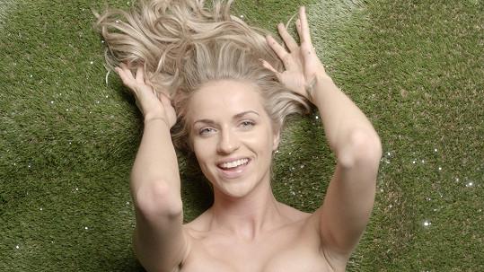 Gabriela Gunčíková při natáčení klipu