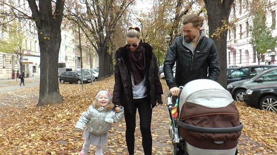 Pavla Vitázková s rodinou