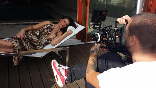 Natáčení jedné ze scén