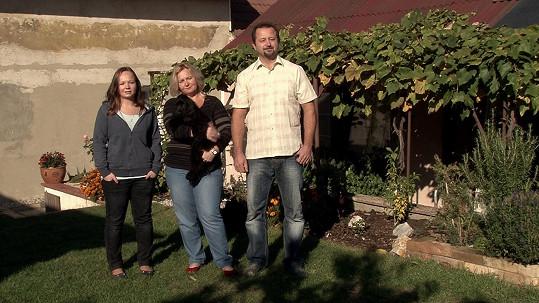 Rodina Magdaleny (na fotce chybí mladší syn)