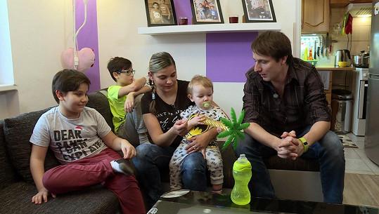 Andrea má s Lukášem syny Dominika, Lukáše a Alexe.