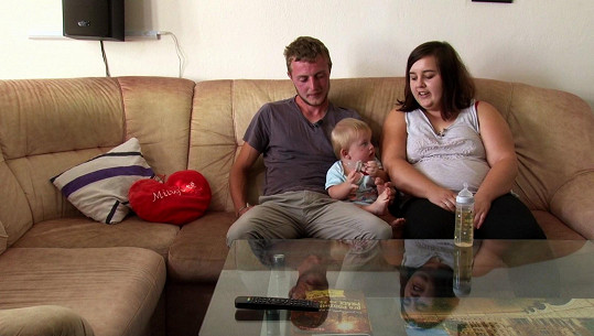 Monika s manželem a synem