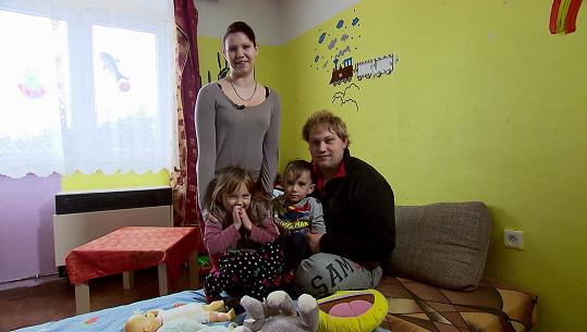 Kristýna s Filipem a jejich dětmi Pepou a Jolankou