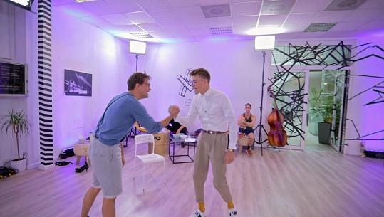 Mikolas Roberta navštívil i na tréninku.