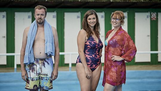 David Máj, Eva Hacurová a Ester Geislerová coby aktéři rande naslepo.