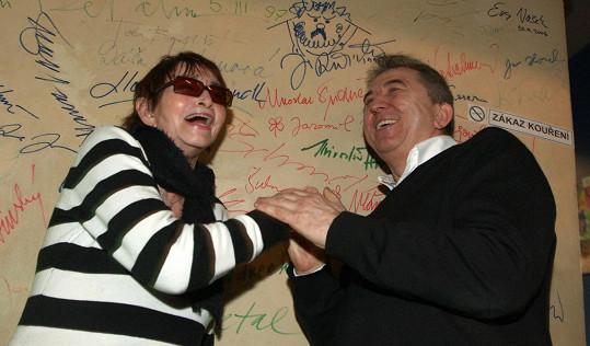 Věra Chytilová s kolegou Fero Feničem