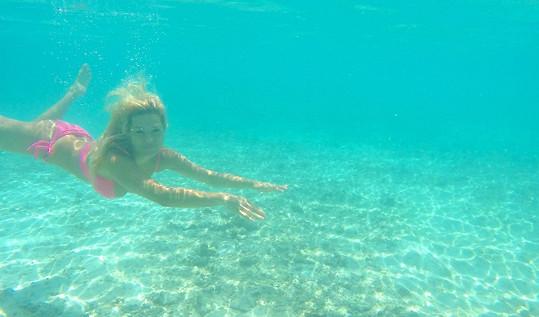 Nejvíce času trávila ve vodě.