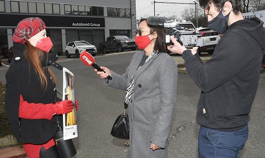 Herečka při rozhovoru se Super.cz
