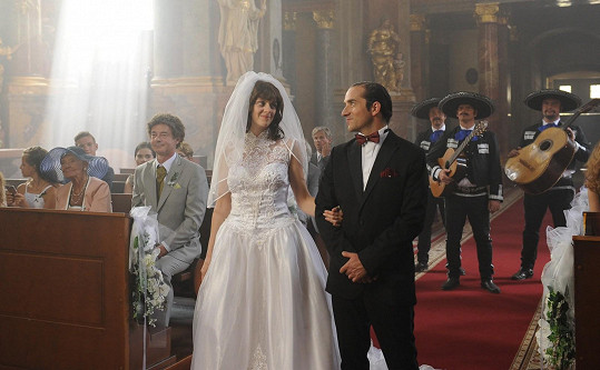Romantická svatba v kostele