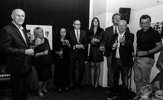 Šmicer s ostatními podporovateli nadace AutTalk