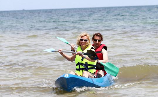 S Vaškem vyrazili poprvé k moři.