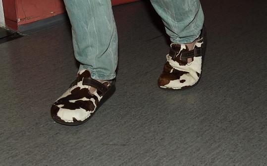 Janek předvedl hodně zajímavou obuv.