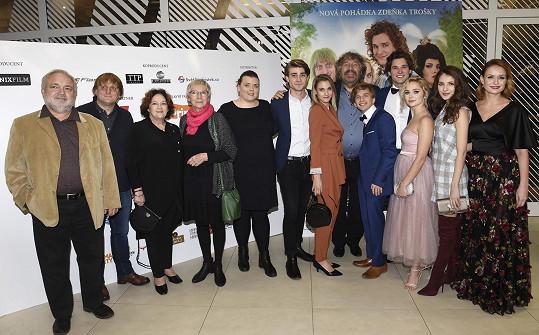 Filmová delegace na slavnostní premiéře