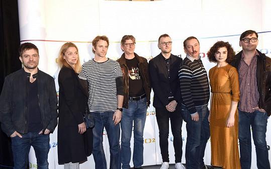 Mádl s kolegy představil na tiskovce nové seriály České televize.