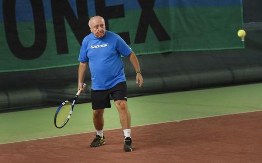 Felix byl jednou z hvězd tenisového turnaje.