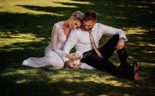 Hanka s novomanželem Andrém